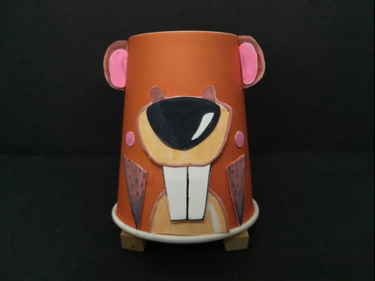【美术蛙秘籍】如何用纸杯制作可爱土拨鼠
