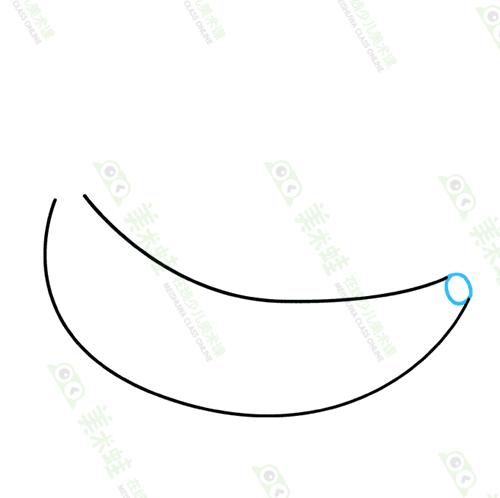香蕉怎么画-香蕉怎么画简单-美术蛙带你画好吃的成熟的香蕉